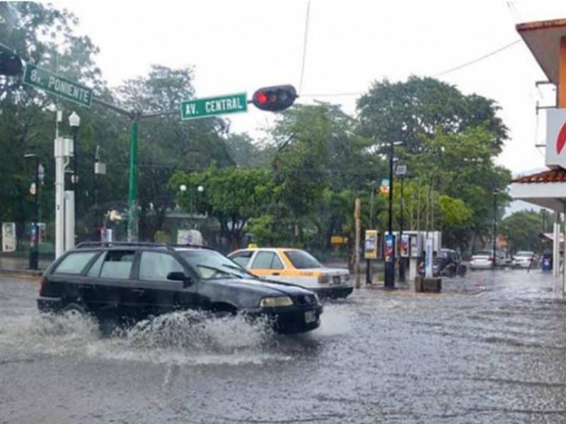 Lluvias pars Chiapas durante fin de semana