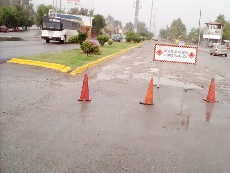 LLuvias ponen en evidencia mala pavimentación
