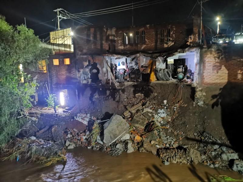 Lluvias provocan desbordamiento de Río Chico en Ixtlán
