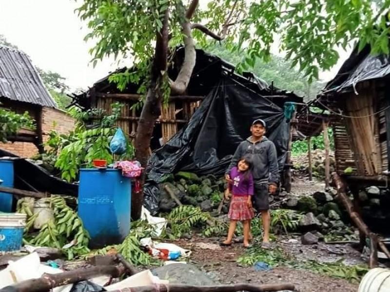 Lluvias recrudecen carencias en comunidades indígenas