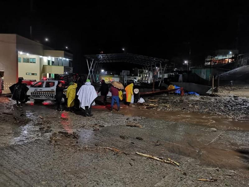 Frente frío 13 provoca afectaciones en municipios de Chiapas