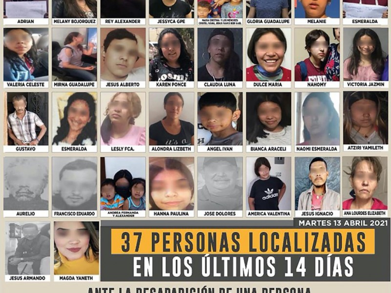 Localizan a 37 personas con reporte de desaparecido
