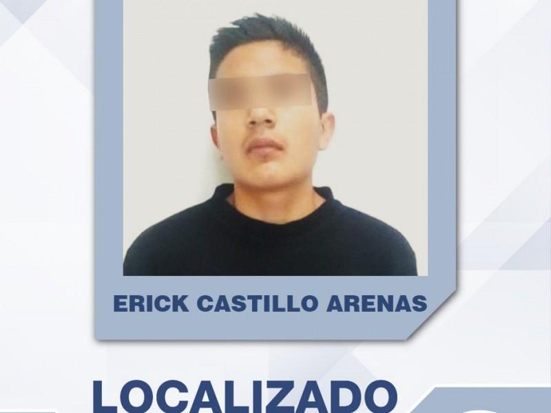Joven desaparecido, Erick Castillo, fue localizado