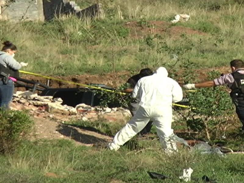 Localizan cadáver enterrado en Fresnillo