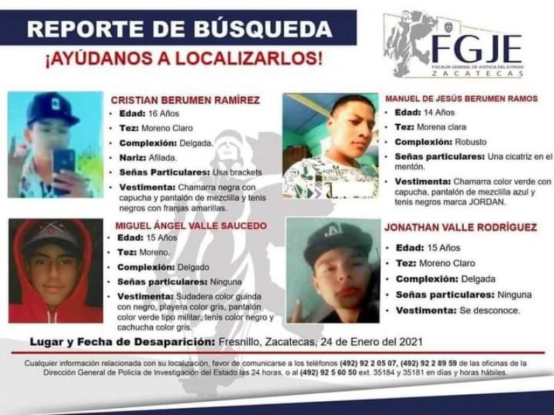 Localizan con vida a menores desaparecidos en Fresnillo