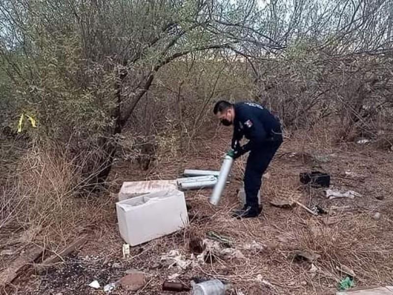 Localizan los 7 tanques de oxígeno robados del IMSS Navojoa