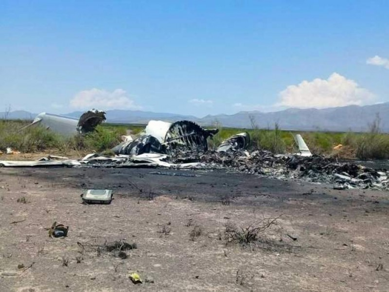 Localizan restos de víctimas del avionazo en Coahuila