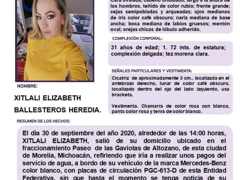 Localizan sin vida a Xitlali, joven desaparecida en Morelia