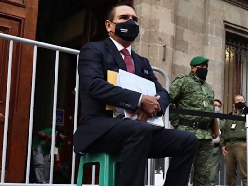 López Obrador recibe a tres gobernadores; batea a Aureoles