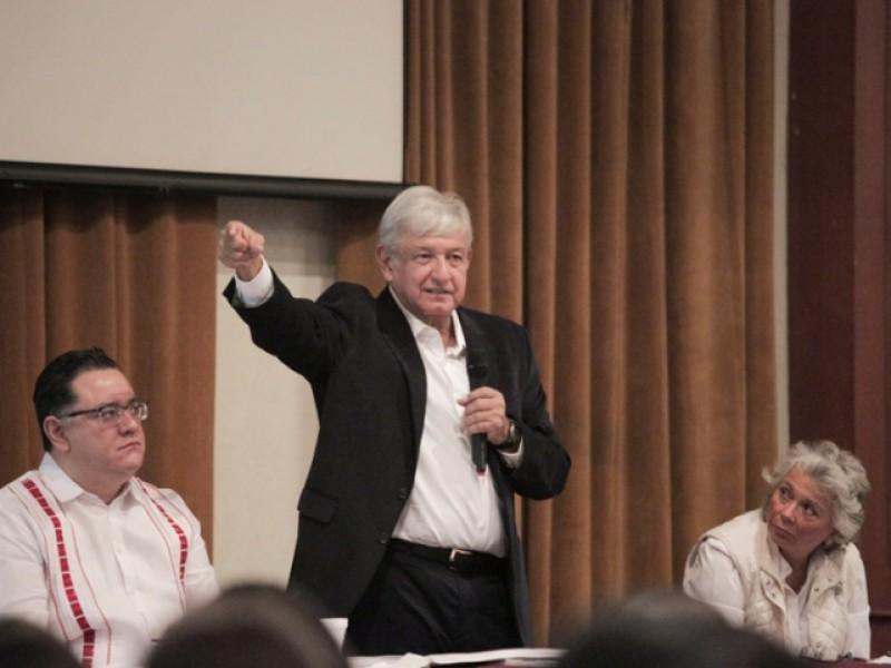 López Obrador se reunió con coordinadores estatales
