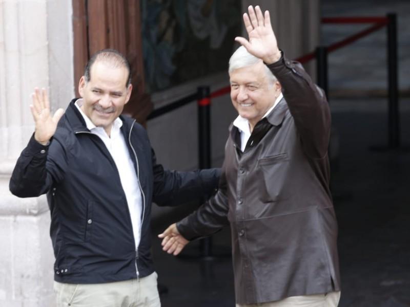 López Obrador sostiene encuentro con mandatario de Aguascalientes