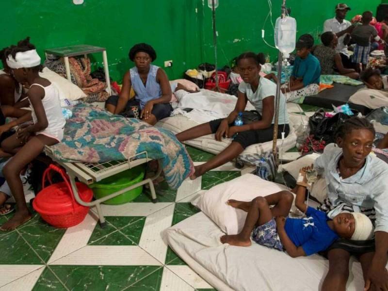 Los hospitales de Haití están desbordados