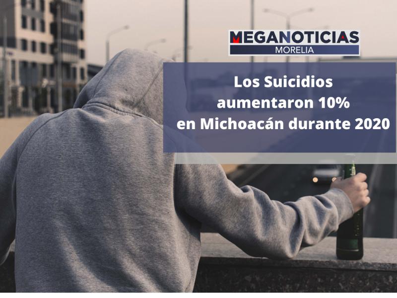 Los suicidios aumentaron 10% en Michoacán durante 2020