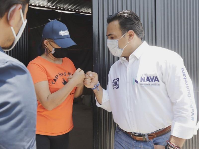 Luis Nava suma el apoyo de colonia 15 de mayo
