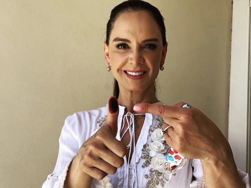 Lupita Jones pide acudir a votar sin miedo, ante incidentes
