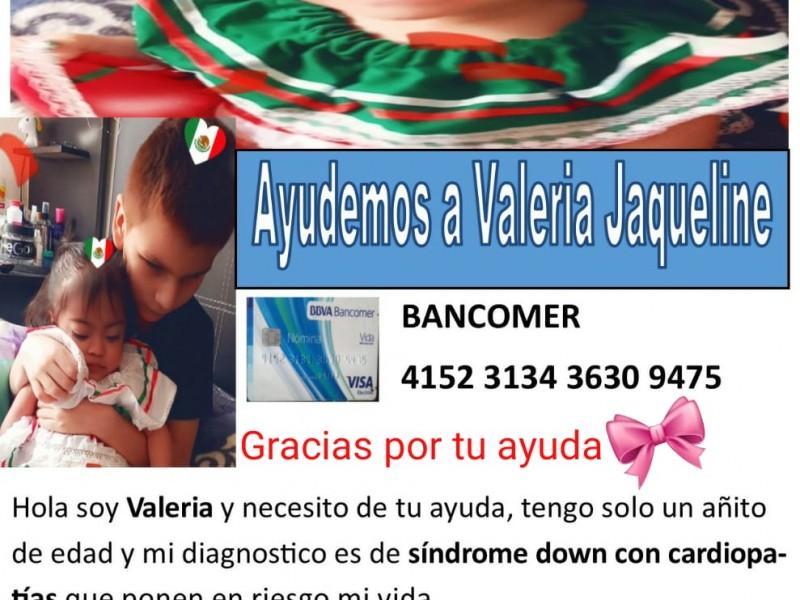 Madre solicita apoyo para cirugía de su pequeña Valeria
