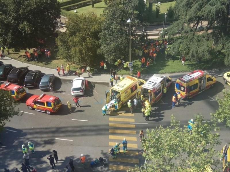 Madrid: Varios heridos por derrumbe en Hotel Ritz
