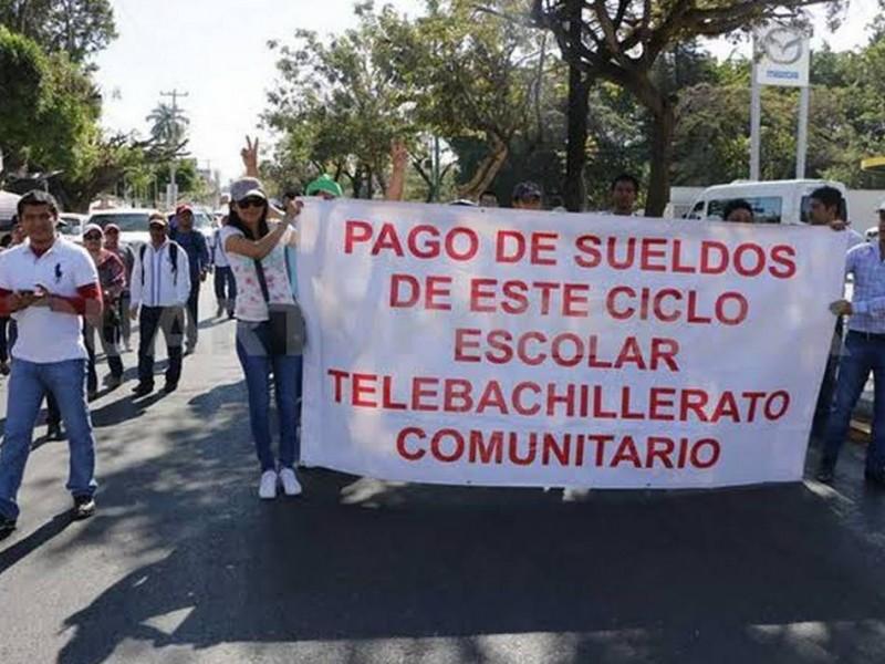 Maestros de Telebachillerato piden cumplimiento de acuerdos de SE