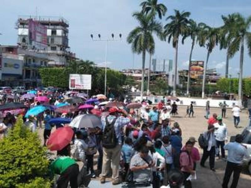 Maestros marchan en Tapachula