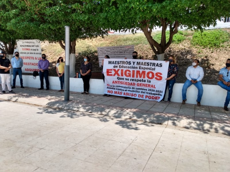 Maestros piden modificaciones a la convocatoria de cambio de adscripción