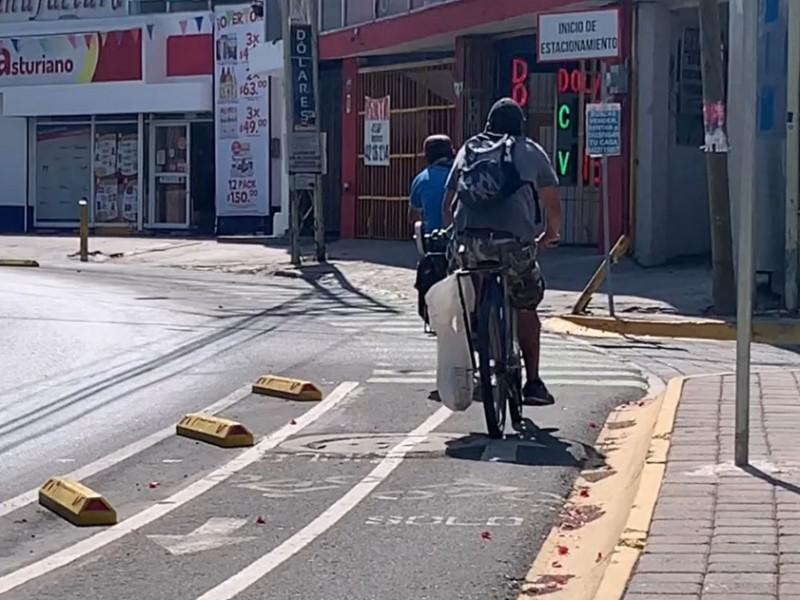 Mala infraestructura de ciclovías riesgo para ciudadanos