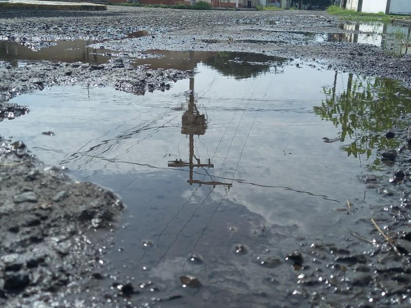 Malas condiciones en calle de la colonia 21 de abril