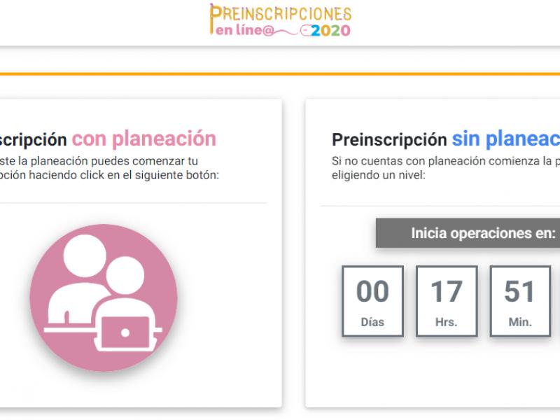 Mañana inician Preinscripciones en línea, entérate de los períodos