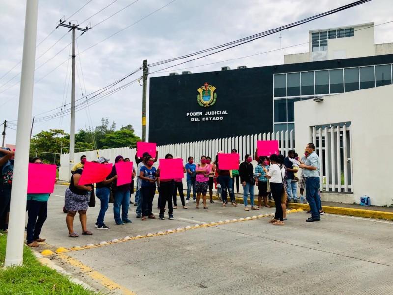 Manifestación en el Juzgado Segundo de Primera Instancia