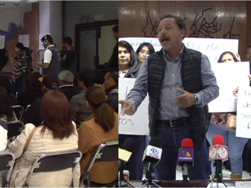 Manifestaciones en el Congreso del Estado de Zacatecas