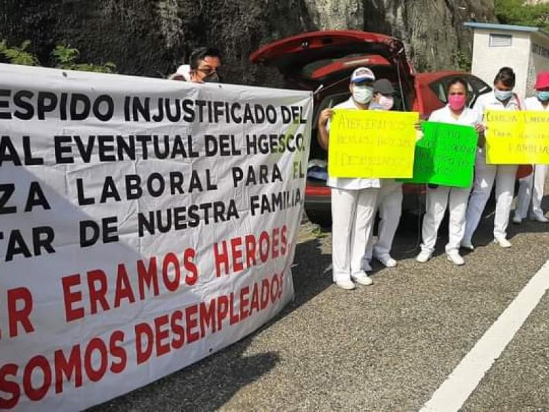 Manifestaciones en Salina  Cruz ante el arribo del presidente de México