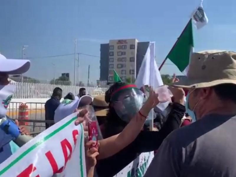 Manifestaciones previo a inauguración de nuevo hospital general