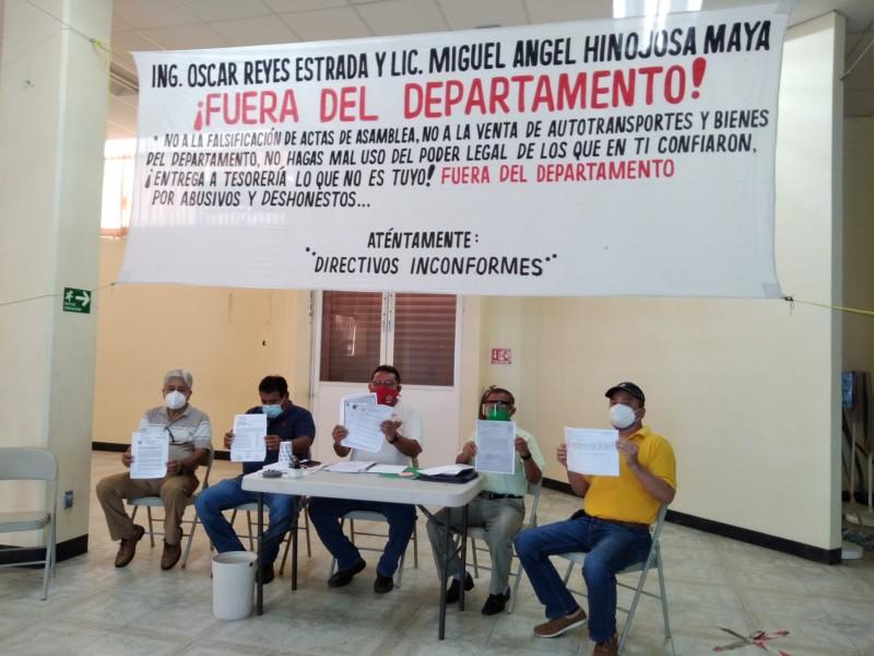 Manifiestan manejo irregular e ilícito en fondos de jubilados petroleros