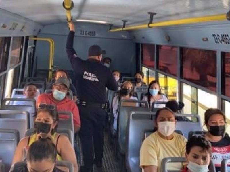 Mantendrán operativo de seguridad en camiones de transporte público