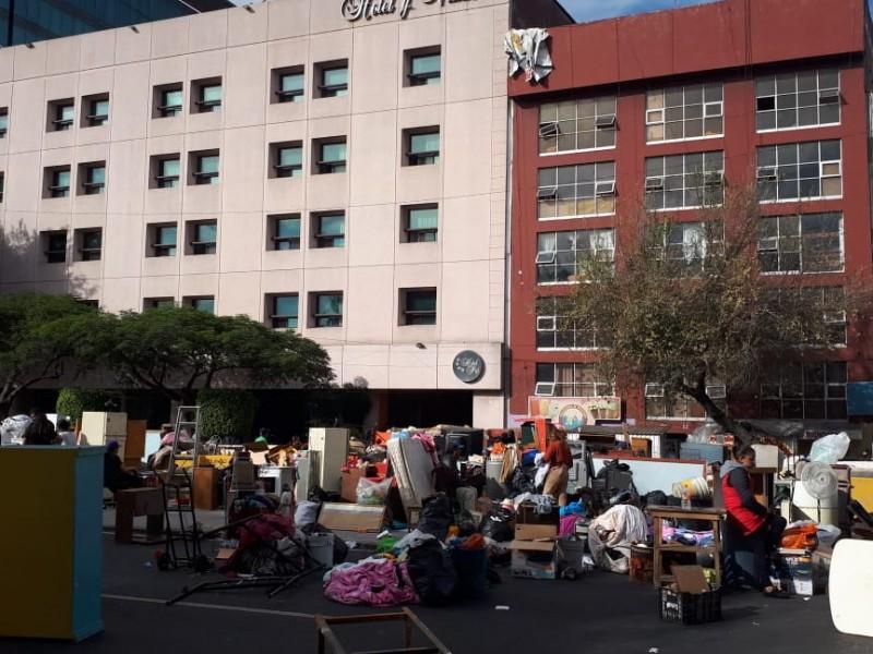 Mantienen 24 horas bloqueo en Arcos de Belén