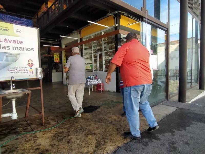 Mantienen protocolo de seguridad e higiene en Mercado Morelos