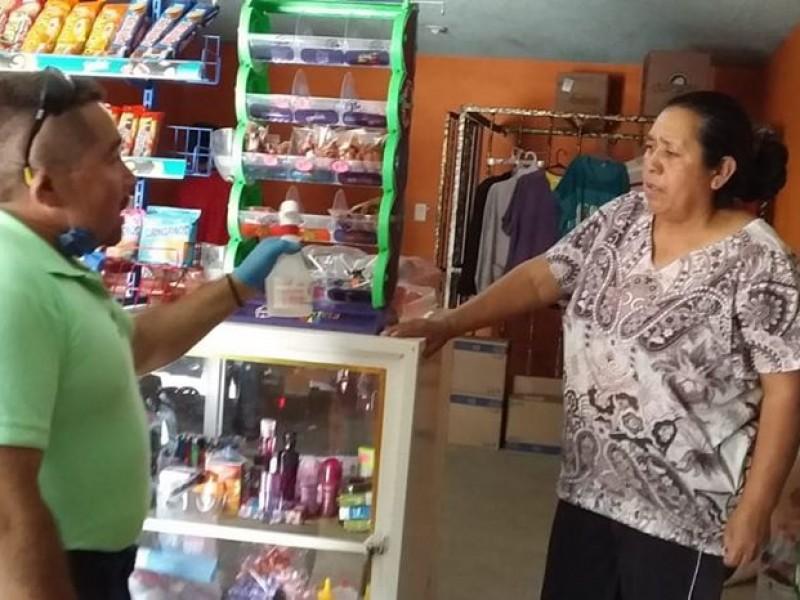 Mantienen supervisión al comercio en San Joaquín por COVID-19