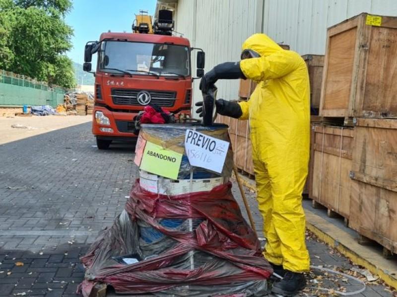 Manzanillo: inactivan 210 kilogramos de benzaldehído