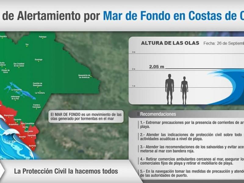 Mar de fondo afecta Chiapas