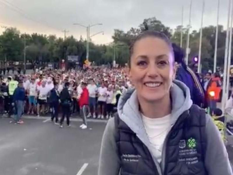 Maratón, un orgullo para la CDMX: Sheinbaum
