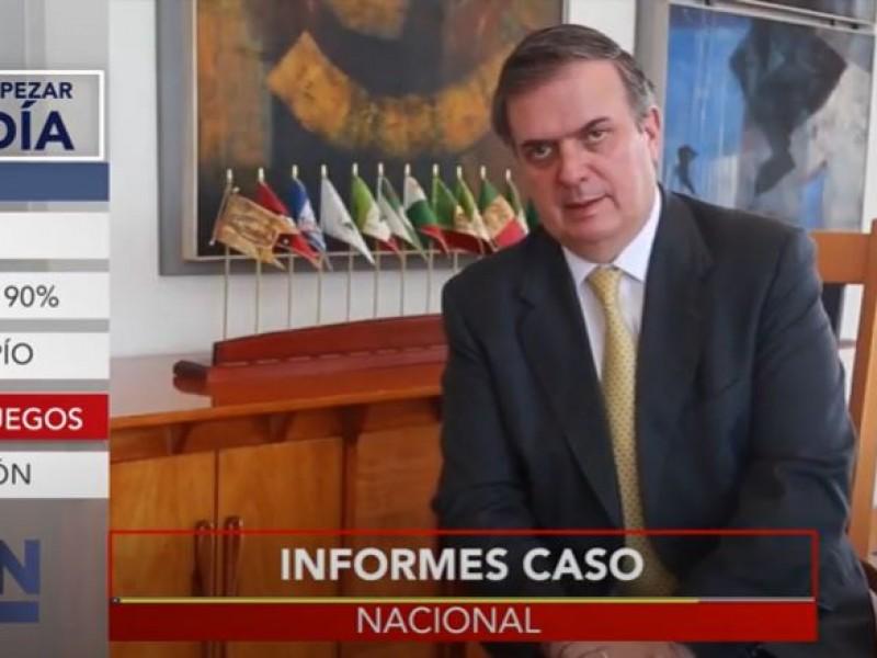 Marcelo Ebrard pide información sobre caso de Salvador Cienfuegos