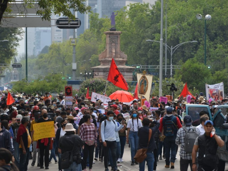 Marcha a 7 años del caso Ayotzinapa