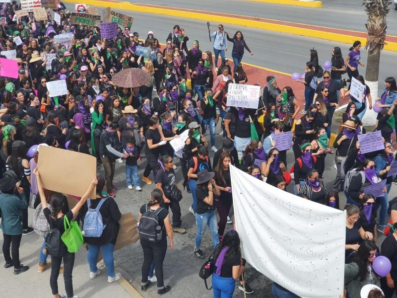 Marcha feminista y Paro Nacional representan un hecho histórico