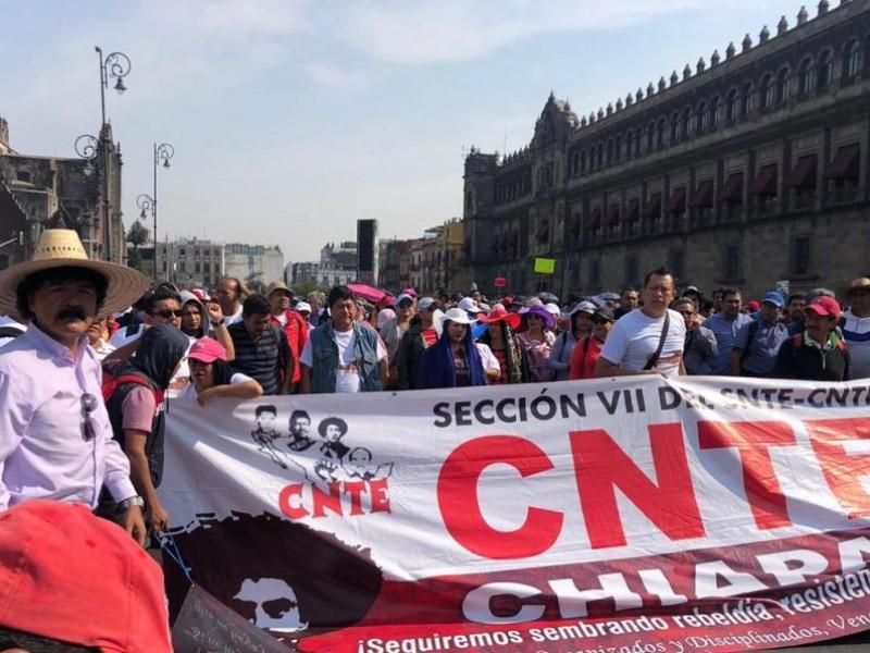 Marcha la CNTE nuevamente en la CDMX