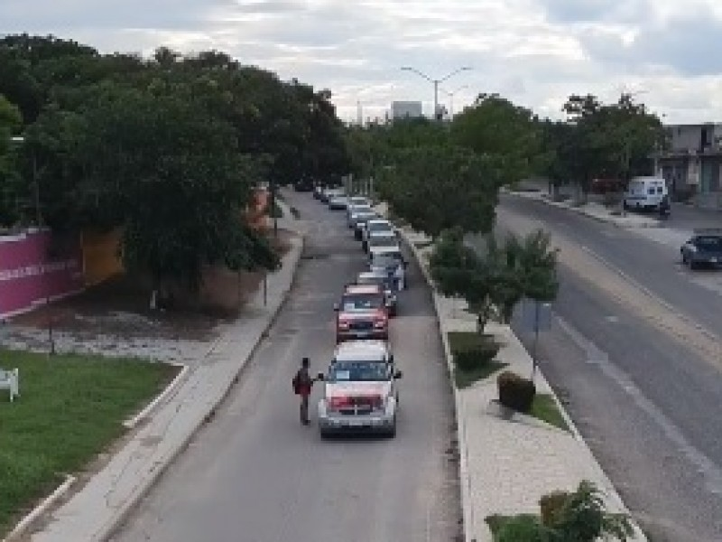 Marcha Motorizada de trabajadores de la CNTE