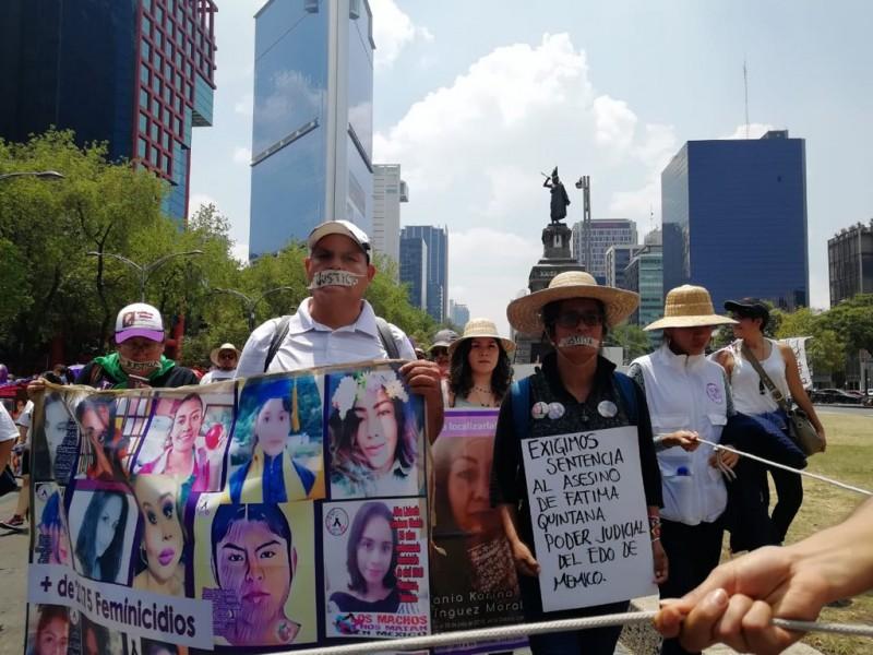 Marcha silenciosa por feminicidios