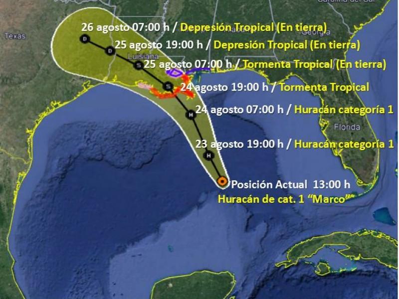 'Marco' se intensifica a huracán categoría 1