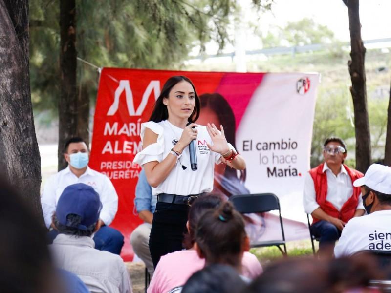 María Alemán pide confiar en su propuesta para mejorar Querétaro