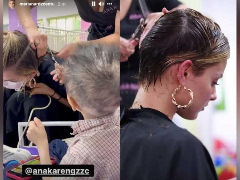 Video: Mariana Rodríguez se corta cabello por niños con cáncer