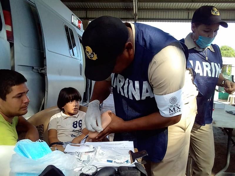 Marina apoya a afectados por lluvias en Sinaloa