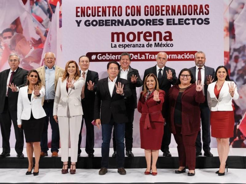 Mario Delgado se reúne con gobernadores electos de Morena